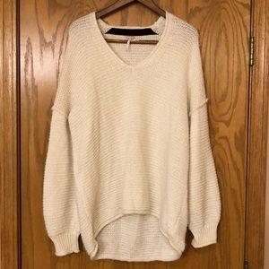 Cozy Free People Cream Sweater Size Medium